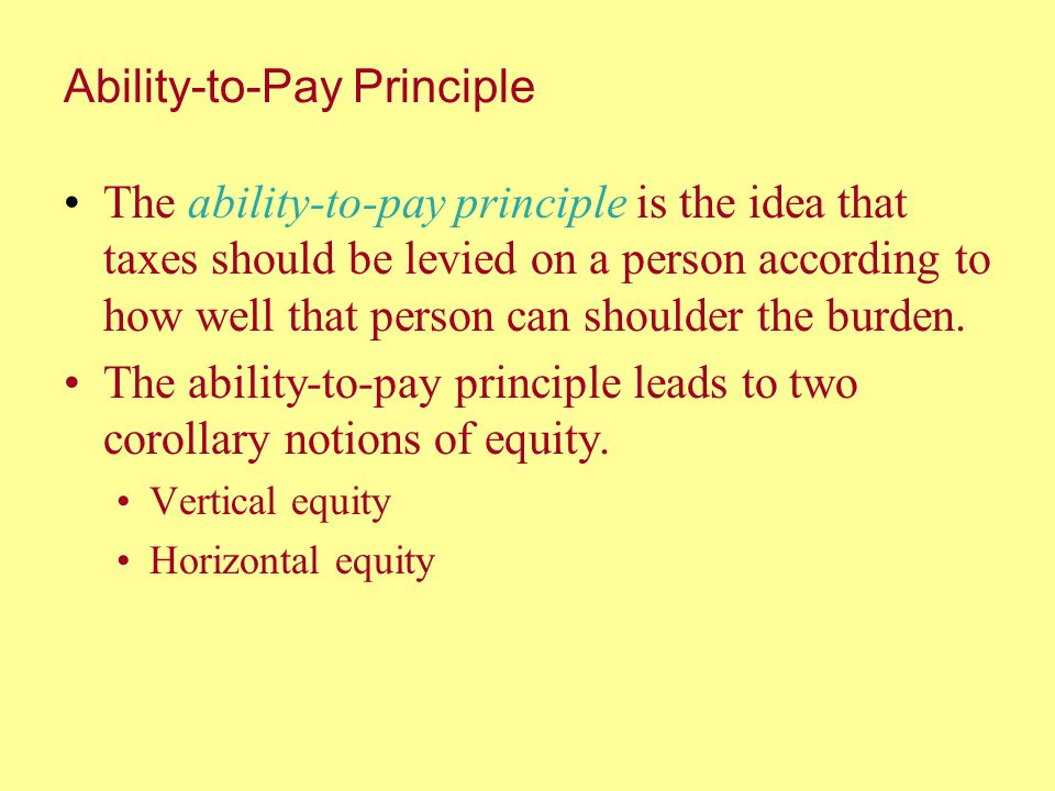 Ability-to-Pay Principle