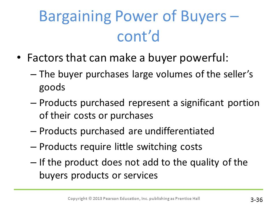bargaining power of buyer walmart Walmart faces the weak intensity of the bargaining power of buyers in the retail  industry environment based on porter's five forces analysis.