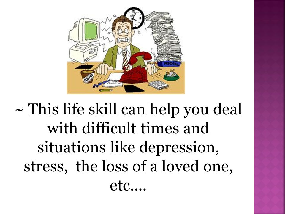 stress, the loss of a loved one, etc....