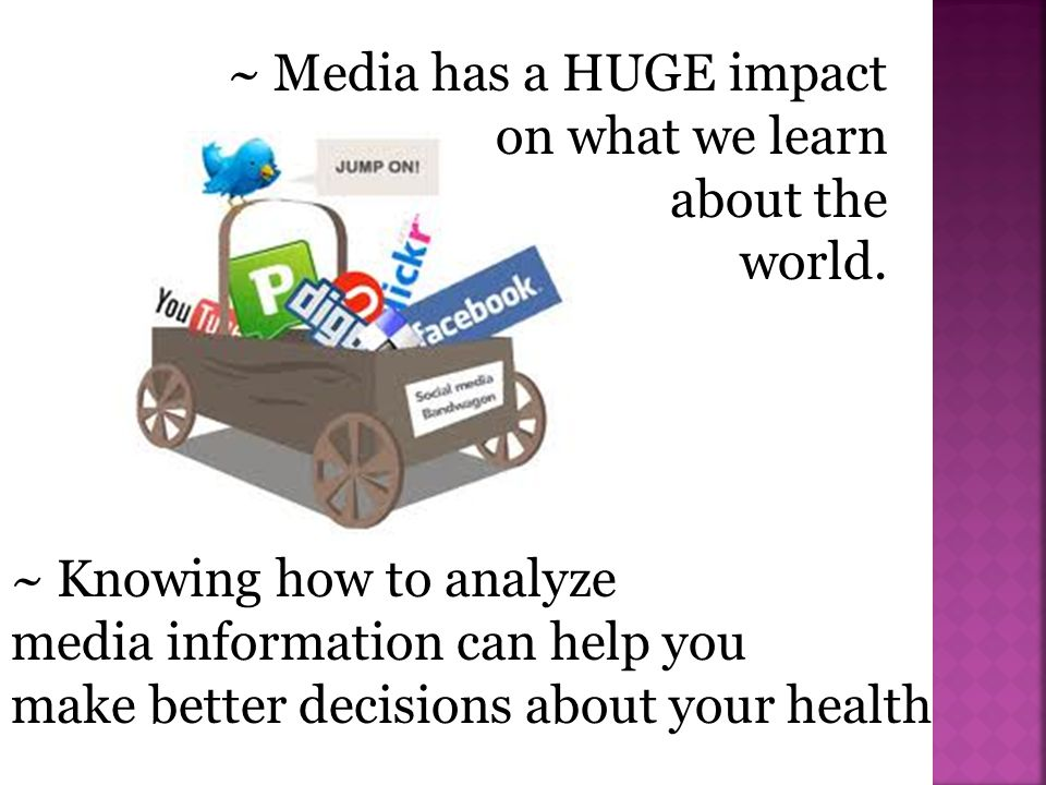 ~ Media has a HUGE impact on what we learn
