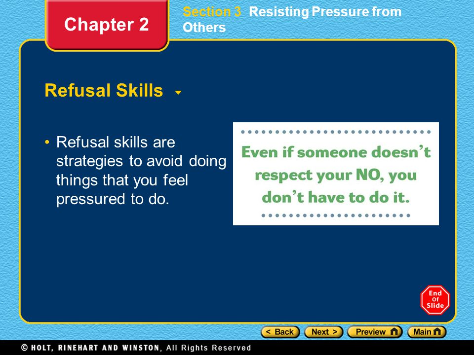 Chapter 2 Refusal Skills