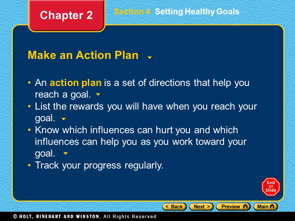 Chapter 2 Make an Action Plan