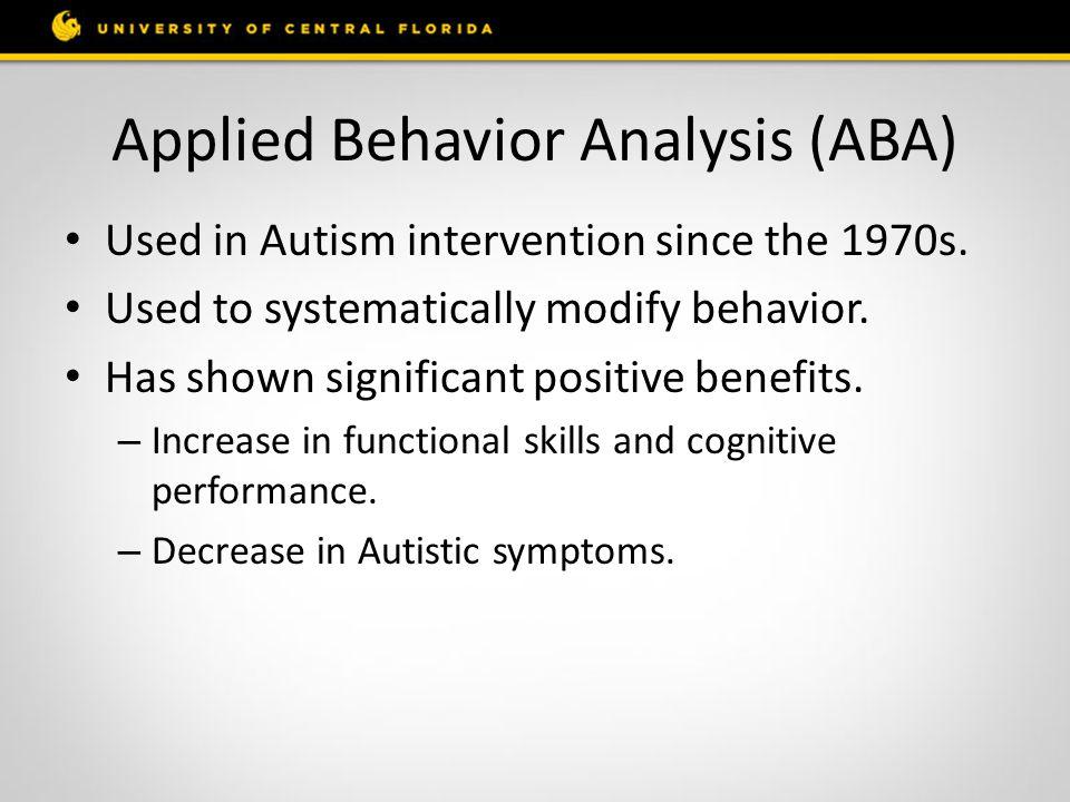Applied Behavior Analysis for Autism Spectrum Disorders ...