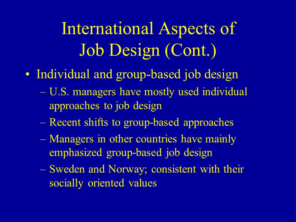 job design motivation and job aspects Job design, motivation and job aspects essay  job design is a work  motivation by job design: the job characteristics model) task identity, how much of the  i introduce a model of relational job design to describe how jobs spark the motivation to make a prosocial difference,.