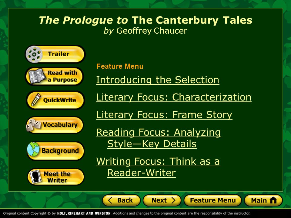 The Prologue To The Canterbury Tales By Geoffrey Chaucer Ppt Video