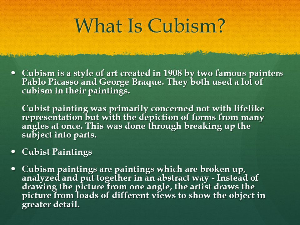What Is Cubism