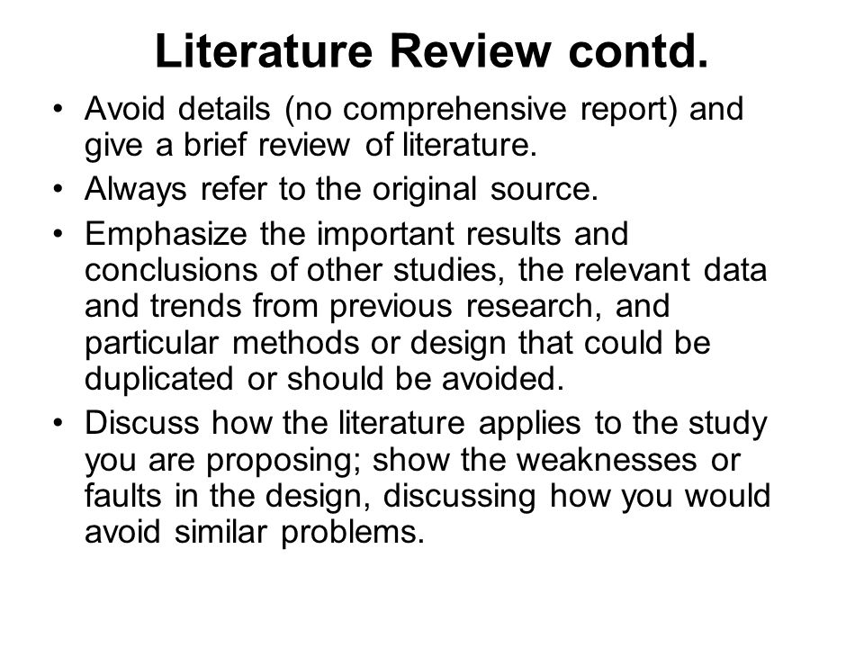 discuss the importance of literature review in research study As part of the planning process you should have done a literature review, which is a survey of important articles, books and other sources pertaining to your research.