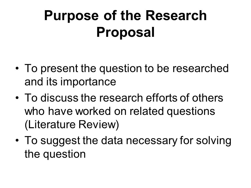 The Research Proposal. - Ppt Video Online Download