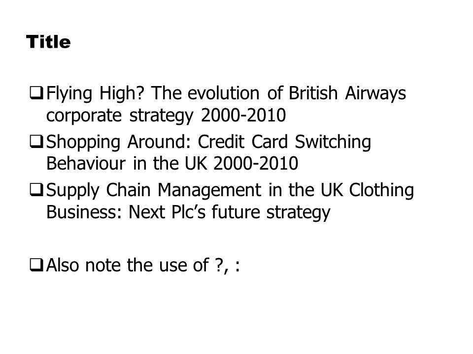 strategic management of british airways company View notes - strategic management at british airways from dsfds sdfds at École normale supérieure strategicmanagementatbritishairwaysplanning,developmentandimplementation: reviewofliterature.