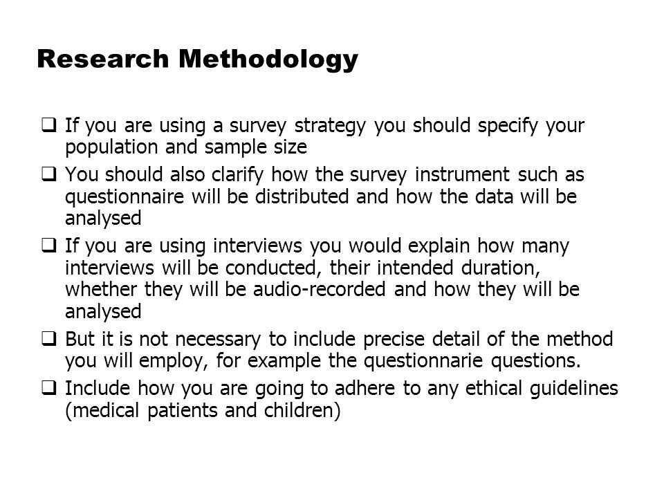 Example Of Methodology Enom Warb Co