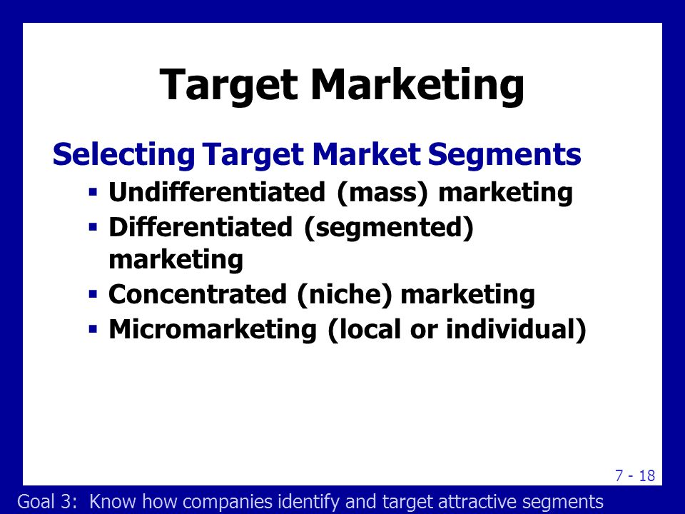 Choosing a Target Marketing Strategy