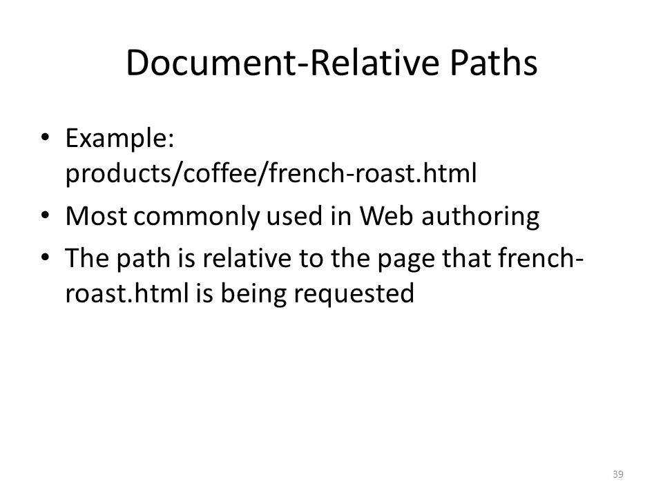 Document-Relative Paths