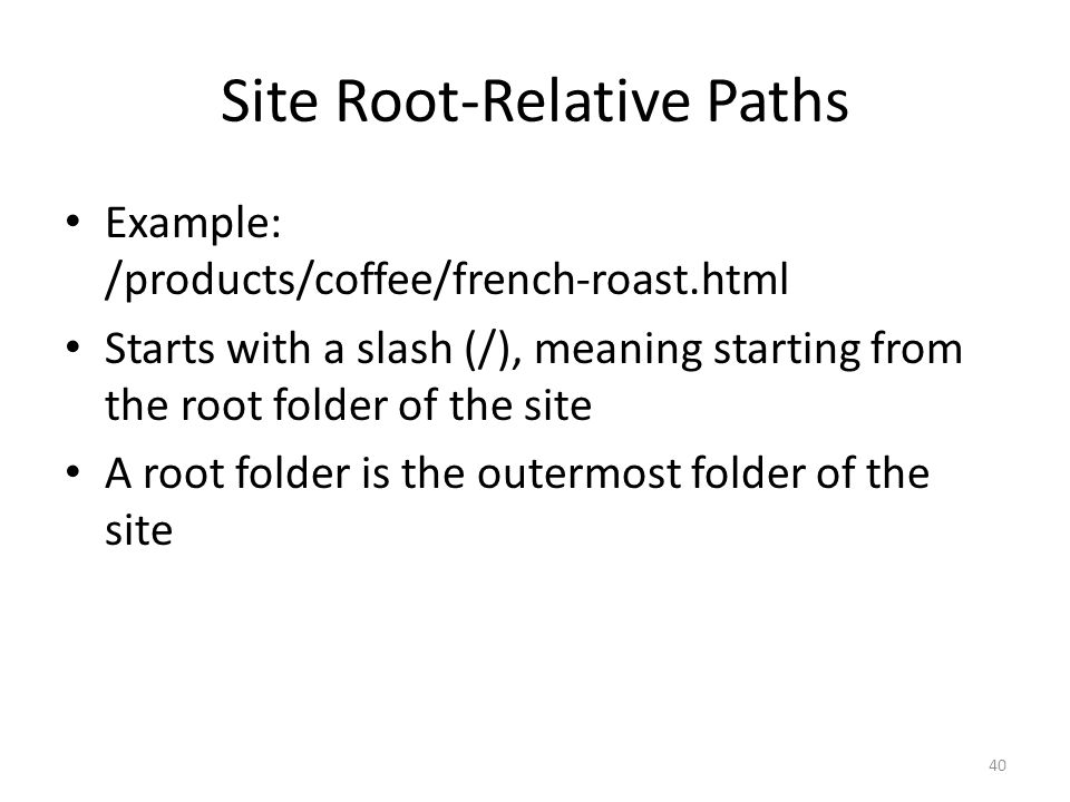 Site Root-Relative Paths