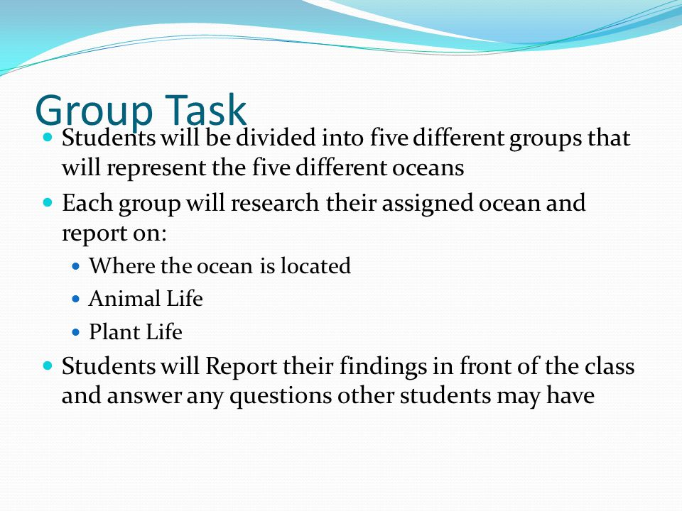 Laura Michele And Alyssa Ppt Video Online Download - 5 different oceans