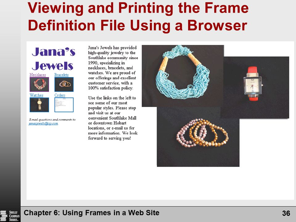 Viewing and Printing the Frame Definition File Using a Browser