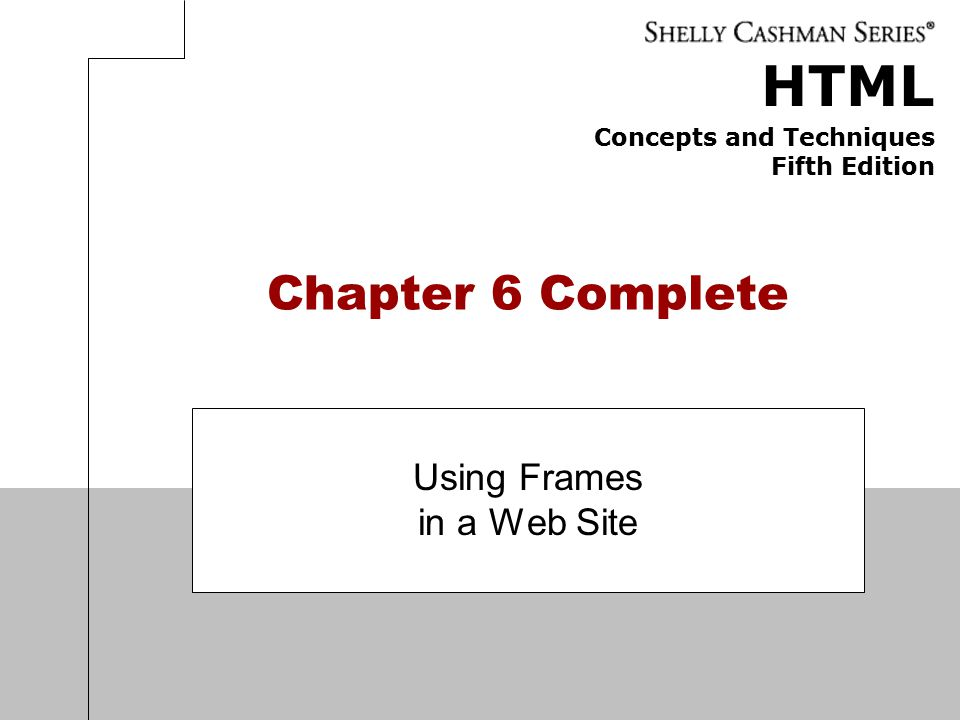 Using Frames in a Web Site