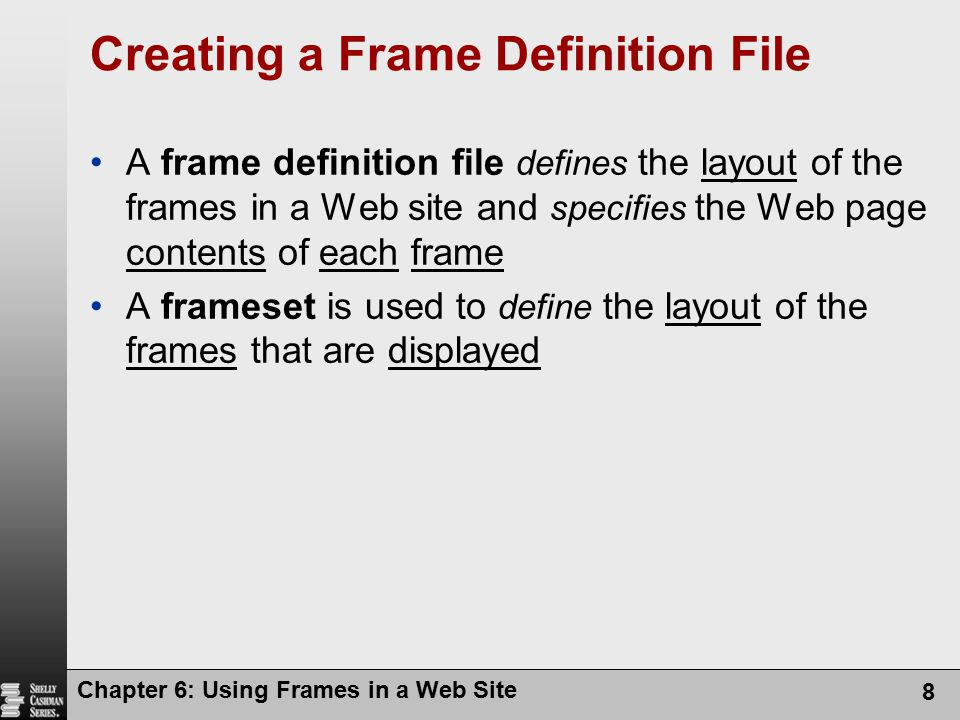 Creating a Frame Definition File