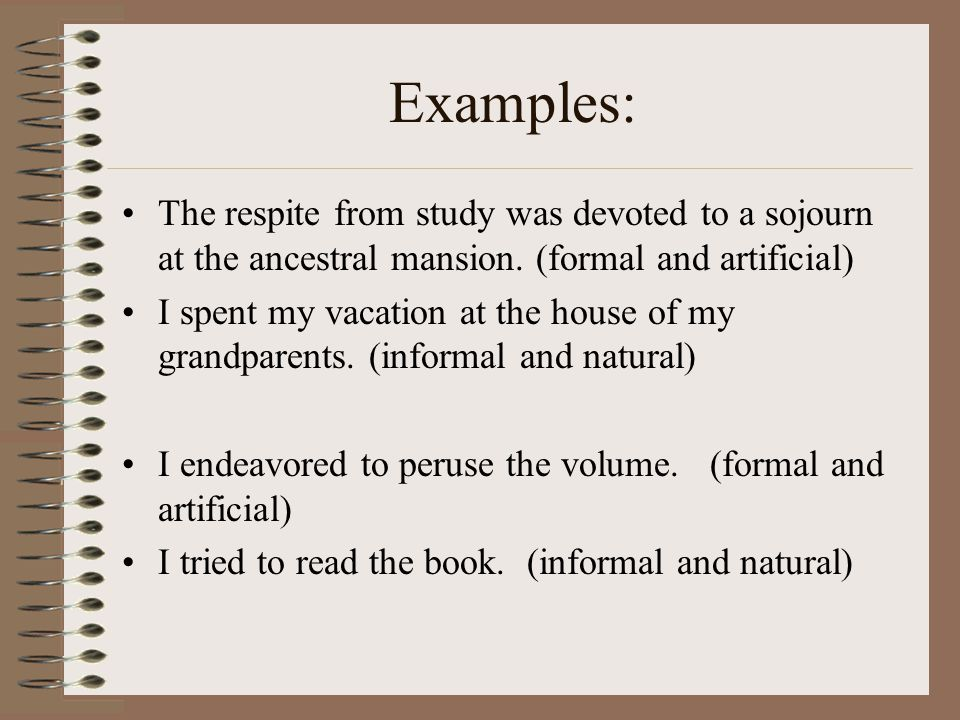 Examples Of Diction In Literature Five Elements o...