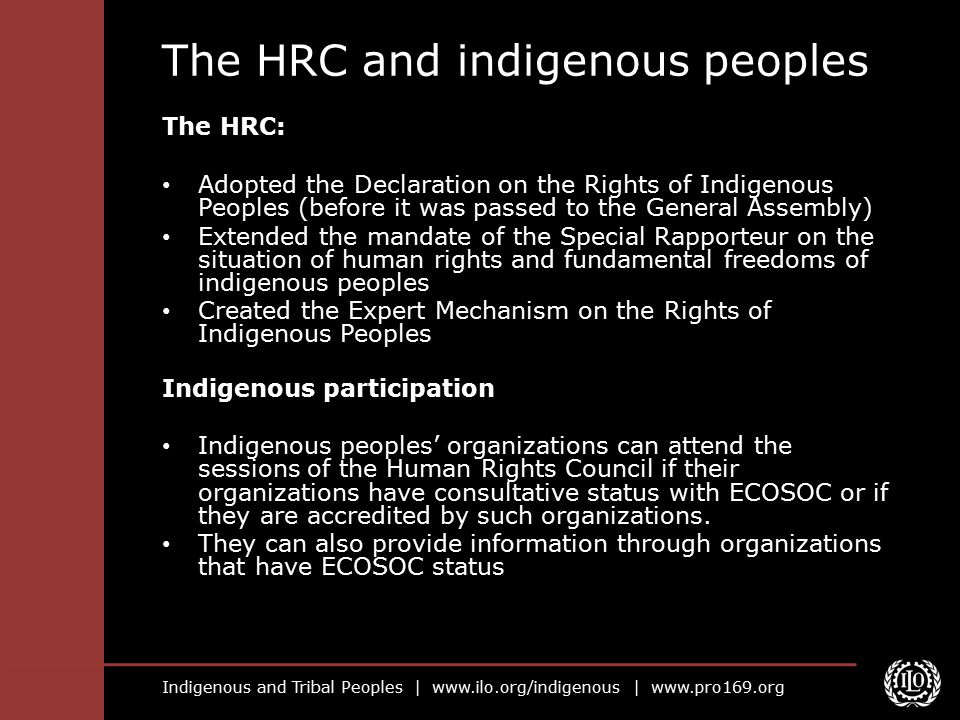 The HRC and indigenous peoples