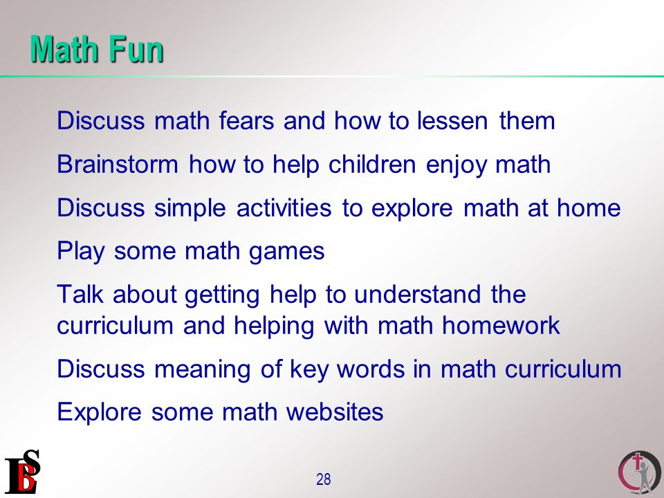 parents as partners in education the workshops ppt  28 math