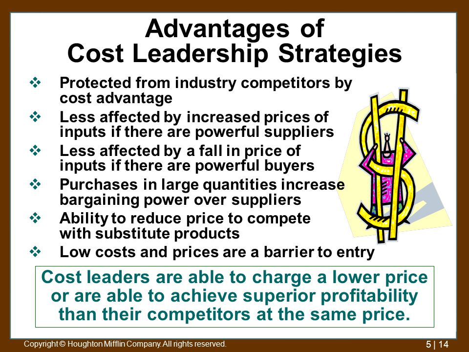 disadvantage of cost leadership Amazon business strategy and competitive advantage: cost leadership & customer centricity posted on august 1, 2018 by john dudovskiy amazon business strategy can be described as cost leadership taken to the extreme.