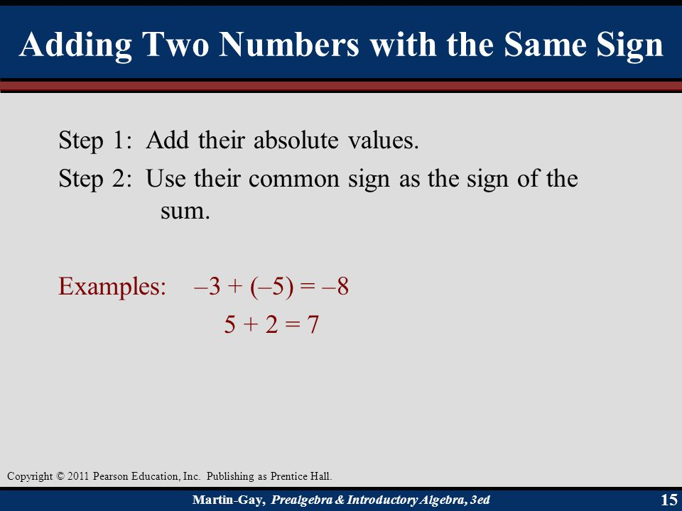 Adding Two Numbers with the Same Sign