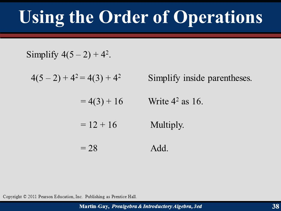 Using the Order of Operations