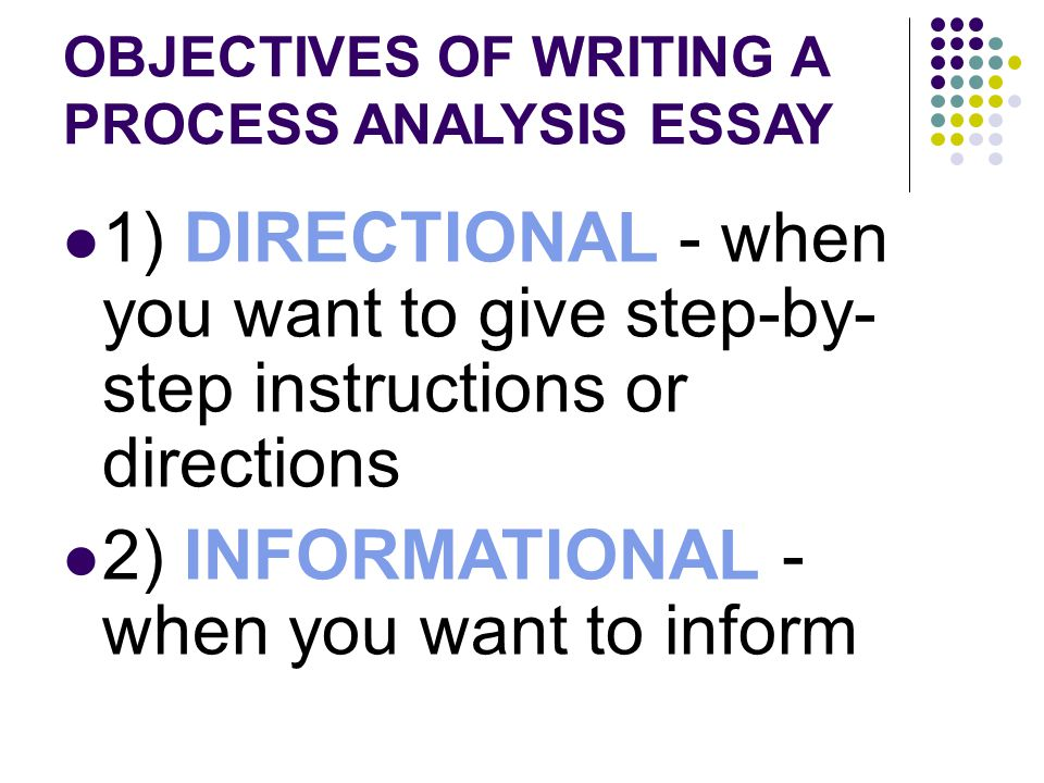process analysis essay informational when you want to inform  2 informational when you want to inform