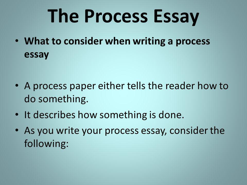 Process writing essay
