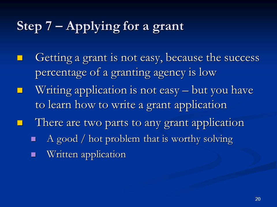 how to write a successful research grant application pdf