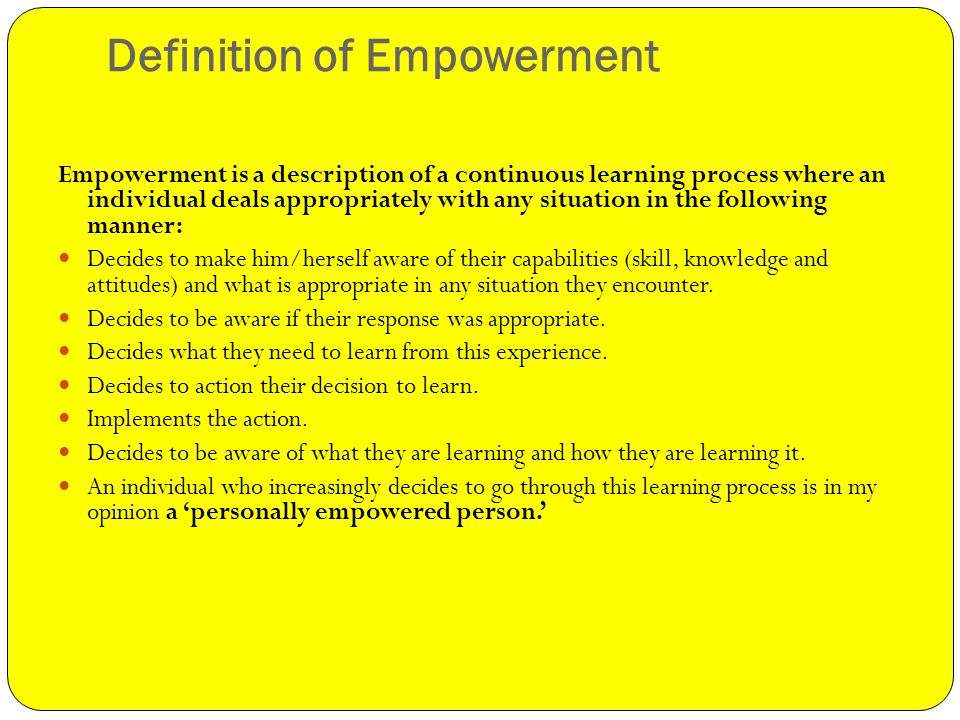 Good Definition Of Empowerment