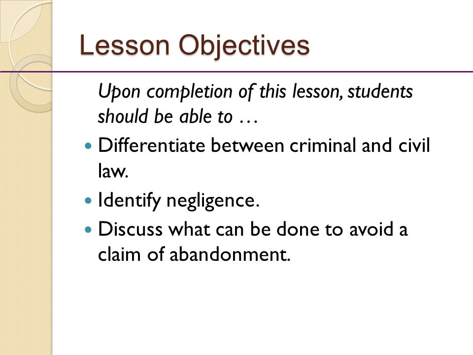 Law and fact: Differentiating the aspects of a case (1)