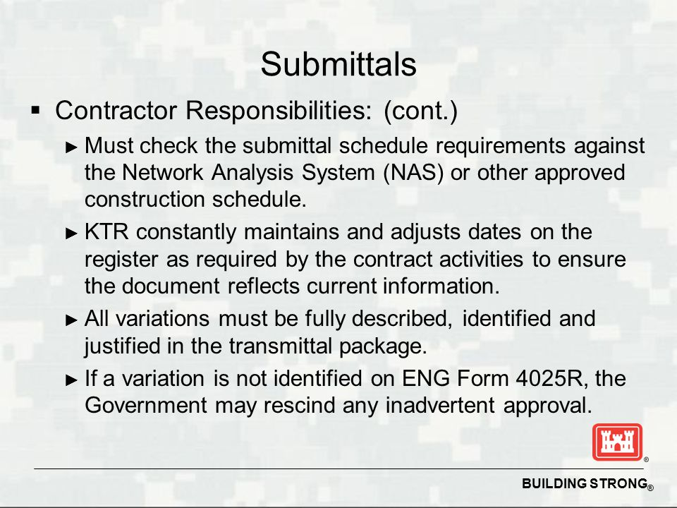 Succeeding on USACE Construction Contracts - ppt download