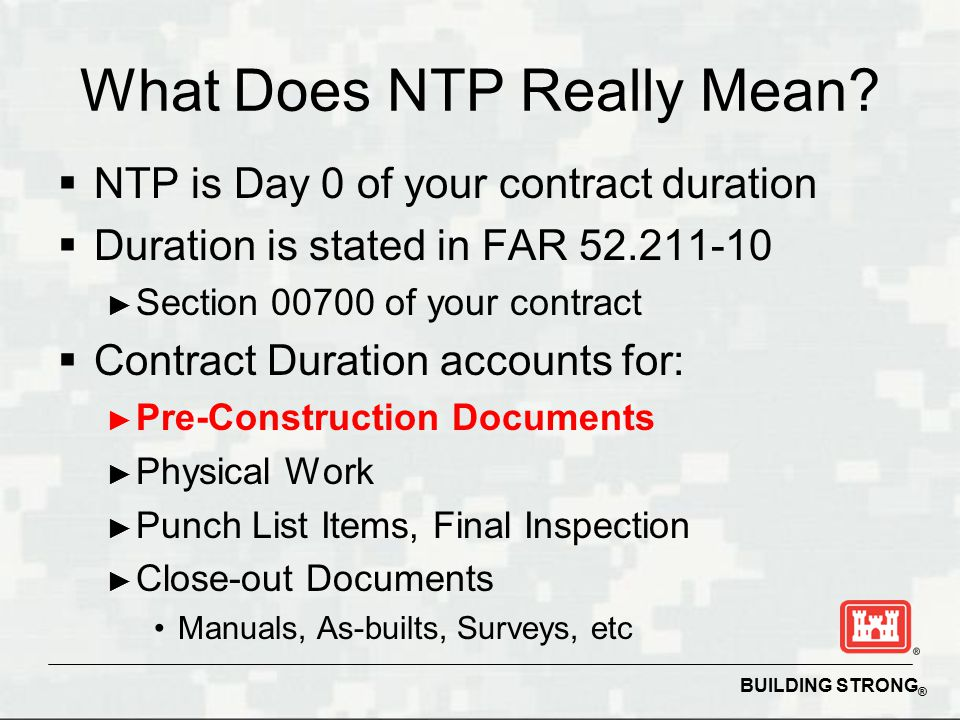Succeeding on usace construction contracts ppt download for What does punch out mean in construction