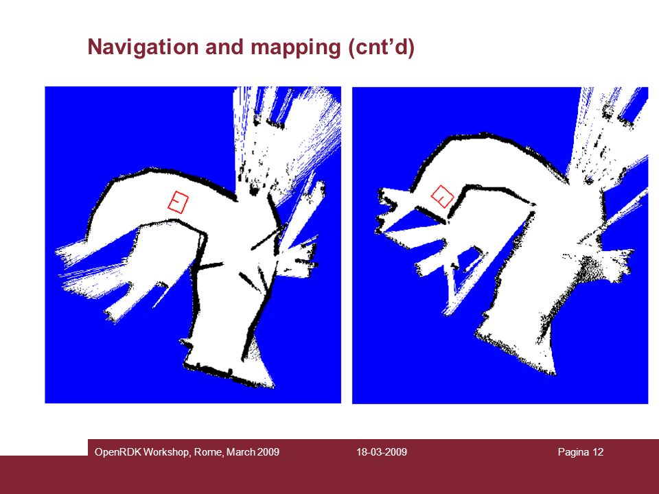 Navigation and mapping (cnt'd)