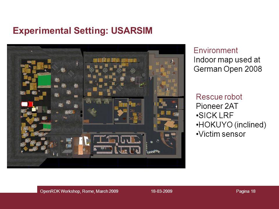 Experimental Setting: USARSIM