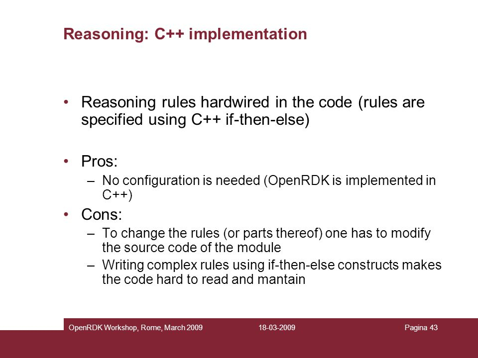 Reasoning: C++ implementation
