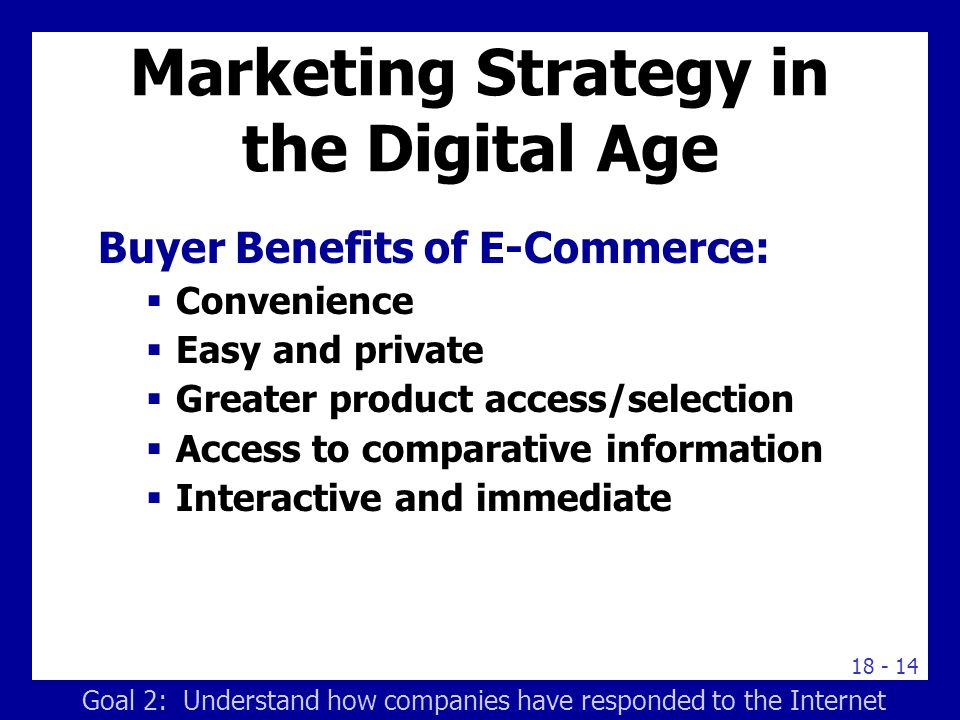 Marketing Strategy in the Digital Age