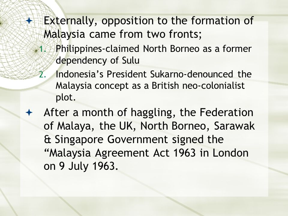 Federation of malaya and the opposition it faced