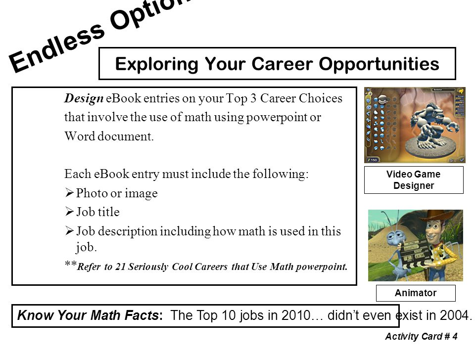 Evaluating a stemm career in mathematics ppt download 5 exploring your career opportunities fandeluxe PDF
