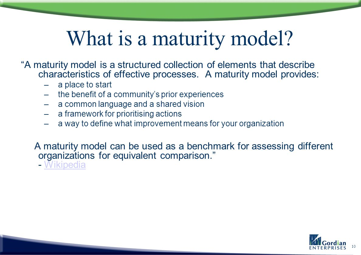 What is a maturity model