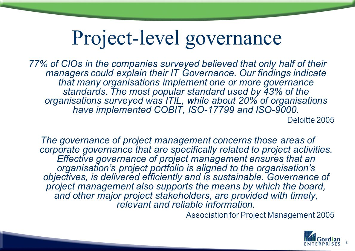 Project-level governance