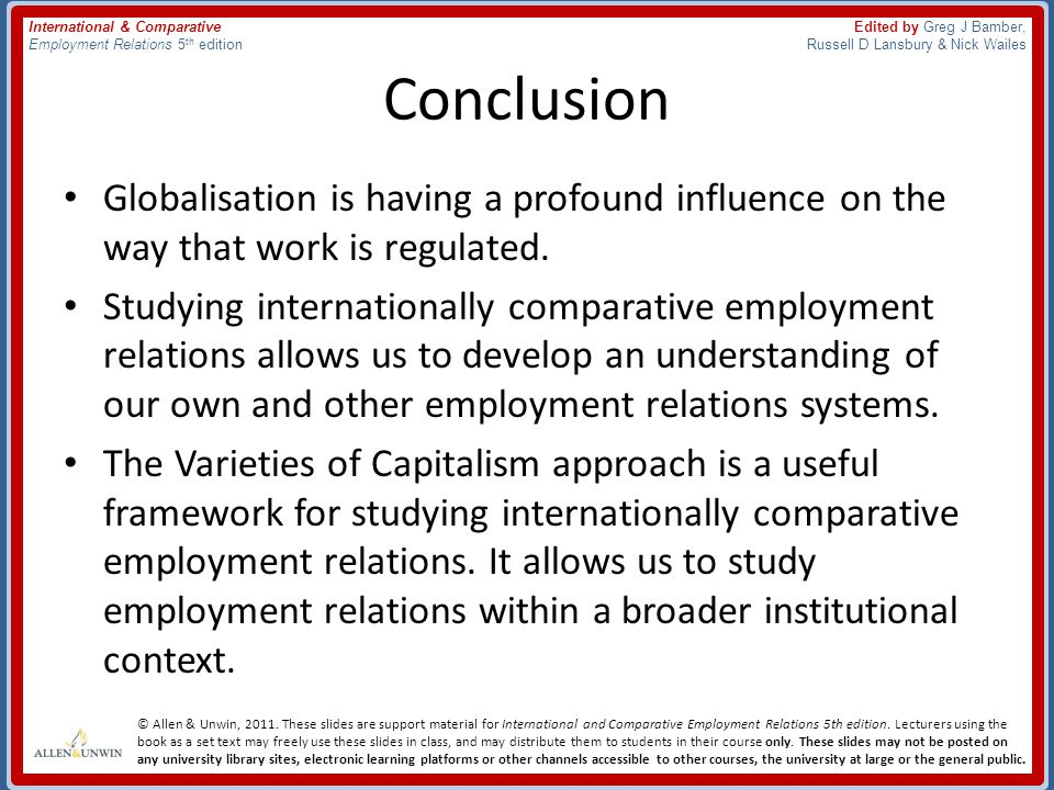 the employment relationship a comparative overview