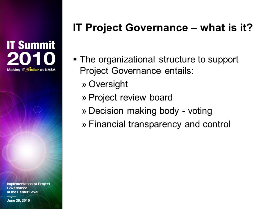 IT Project Governance – what is it