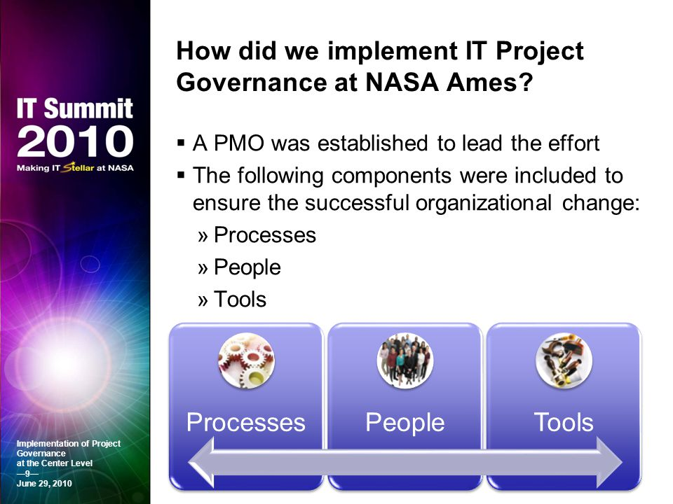 How did we implement IT Project Governance at NASA Ames
