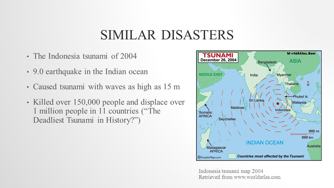 a comparison of the tsunami disasters and earthquake disasters In this episode, we compare the power released for the biggest earthquakes, from an everyday 20 earthquake, to a 50 objects shifting quake, we get a visual.