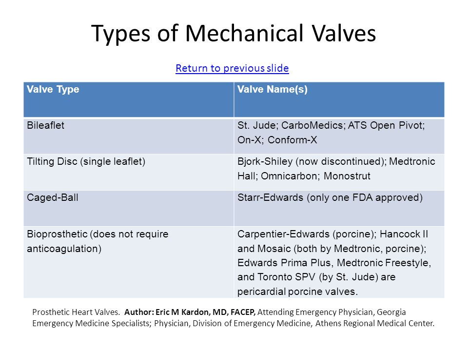 Types of Mechanical Valves