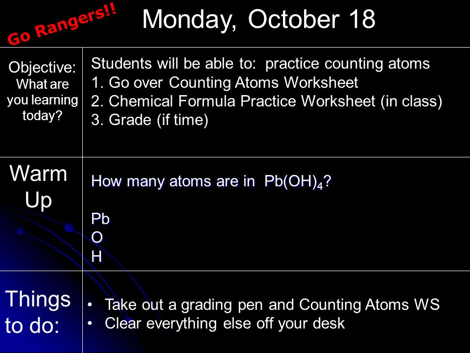 Counting Atoms and Balancing Chemical Equations ppt download – Counting Atoms Worksheet