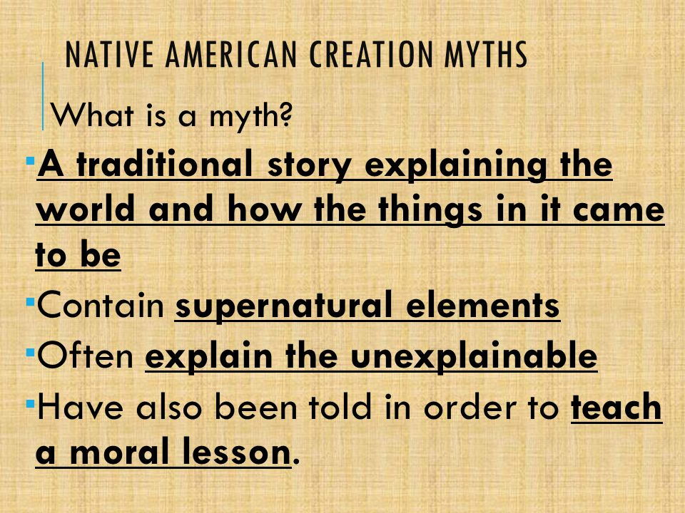 native american origin myths Links to native american creation myth sites apache hopi teach yourself native american myths chicago: contemporary books, 2001 ferguson, diana.