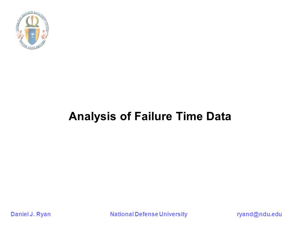Analysis of Failure Time Data